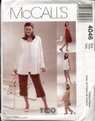 McCalls 4046 Maternity Dress Top Jacket Pants Pattern Size Z