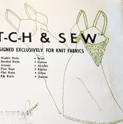 Stretch & Sew 2090 Misses Full Slip, Lingerie Sewing Pattern Size 30-32-34-36-38-40 Vintage 1967