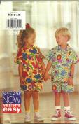 Childrens Shirt & Shorts (Butterick Sewing Pattern 3297, Size