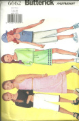 Girls , Top, Skirt, Pants & Scarf (Butterick's Sewing Pattern 6662, Size
