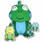 Daisy Kingdom Easy Cut and Sew Stitch 'N Stuff Kit, Frog