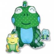Daisy Kingdom Easy Cut and Sew Stitch 'N Stuff Kit, Frog
