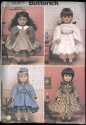 Butterick Sewing Pattern 6667 - Doll Historical Clothing One Size