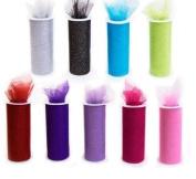 *SALE* 9 GLITTER Tulle Rolls each one 15cm By 30 Ft