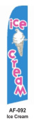 HPP 11-1/2' X 2-1/2' Brand New Advertising Tall Flag- Ice Cream