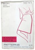 Kandel Knits 6 Sewing Pattern Knit Skirt Size 8-18