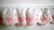 Pink Hearts Embroidered Band 3.8cm Simplicity 10 Yds