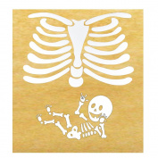 American Sign Language ILY Pregnant Skeleton Iron-on DIY