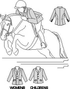 Suitability 5004 Misses Womens & Childrens Hunt Coat Equestrian Sewing Pattern