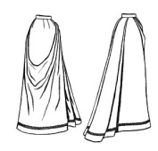 1891 French Fan Skirt Pattern