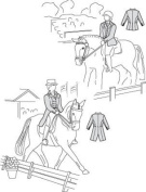 Suitability 5850 Womens Dressage Coat and Shadbelly Equestrian Sewing Pattern