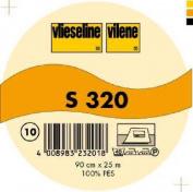 Vilene Light iron-on Interlining S 320 white-coloured; width 35.10 inch/90cm, price per metre