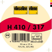 Vilene Iron-on nonwoven interfacing H 410 black-coloured; width 35.10 inch/90cm, price per metre