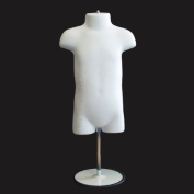 Infant With Metal Base Mannequin Form 48cm To 100cm Height Use For Display 9mo-12mo Sizes White