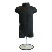 Infant With Metal Base Mannequin Form 48cm To 100cm Height Use For Display 9mo-12mo Sizes Black