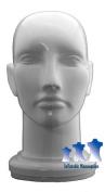 Unisex Head, Hard Plastic White