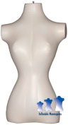 Inflatable Mannequin, Female Torso, Standard Size Ivory