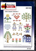 Amazing Designs Dutch Sampler Collection 1 Machine Embroidery Designs ADC1354