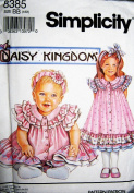 Simplicity 8385 ~DAISY KINGDOM ~ LITTLE GIRL & TODDLER RUFFLE YOKE COLLAR DRESS SEWING PATTERN