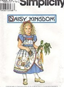 Simplicity 8551 Daisy Kingdom Girls Daisy Kingdom Dress and Pinafore - Size AA