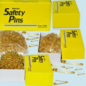 2.2cm #0 Safety Pins ~ Gold ~ 1 Box