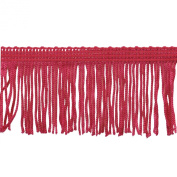 Chainette Fringe 10-Yard Polyester Fringe Rolls for Arts and Crafts, 5.1cm Long, Fuchsia