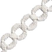 Venus Ribbon 11573-WT 2.5cm Figure 8 Knit Braid, 5-Yard