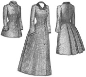 1880s Late Bustle Coat Pattern
