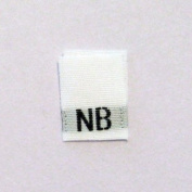 Size NB (New Born) Clothing Size Labels