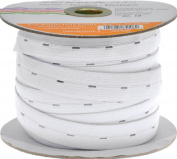 Stretchrite 1.9cm by 30-Yard White Buttonhole Knit Elastic Spool