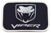 Dodge Viper Logo Black Background with Silver Framed Official Licenced Belt Buckle