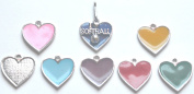 6pc I Love Softball Zipper Pull w/ Coloured Heart - Silver (Brand New) - Pack of 6