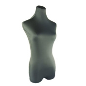 New 1pcs Grey Superb Stretched Mannequin Cover Dress Form Model Dummy Top Cover