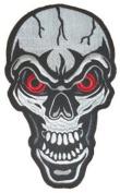 "Red Eyed Skull Patch 16cm X 25cm (6"" X 10"") Sew On"