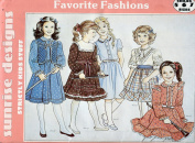 Sunrise Designs Favourite Fashions Pattern ~ Girls' Dresses ~ 5-6-7