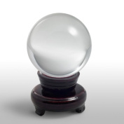 Hot Huge Asian Quartz Clear Crystal Ball Sphere 80mm + Stand