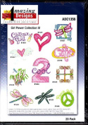 Amazing Designs Girl Power Collection 4 Machine Embroidery Designs ADC1356