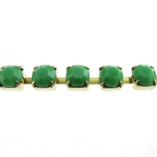 Mode Beads SS29 Raw Rhinestone Cup Chain, 1m, Opaque Green