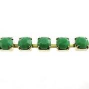 Mode Beads SS29 Raw Rhinestone Cup Chain, 1m, Opaque Green