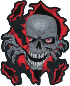 Lethal Threat Skull Rip Embroidered Patch LT30052