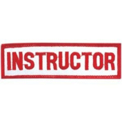 Achievement Patch - Instructor - 10cm x 2.5cm - 15 Pack