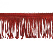 Chainette Fringe 10-Yard Polyester Fringe Rolls for Arts and Crafts, 5.1cm Long, Red