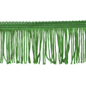 Chainette Fringe 10-Yard Polyester Fringe Rolls for Arts and Crafts, 5.1cm Long, Hunter