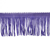 Chainette Fringe 10-Yard Polyester Fringe Rolls for Arts and Crafts, 5.1cm Long, Purple
