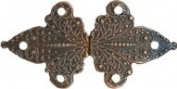 Antique Copper Finish Fleur De Lis Cloak or Cape Clasp