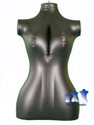 Inflatable Mannequin, Female Torso, Mid-Size Black