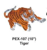 25cm Embroidered Animal Patch Tiger