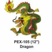 30cm Embroidered Animal Patch Dragon