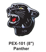 20cm Embroidered Animal Patch Panther