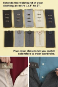 Home-X Easy Fit Hooks & Buttons. Extend Your Trousers or Skirt 1.3cm - 5.1cm . Set Includes 5 Colours of Each